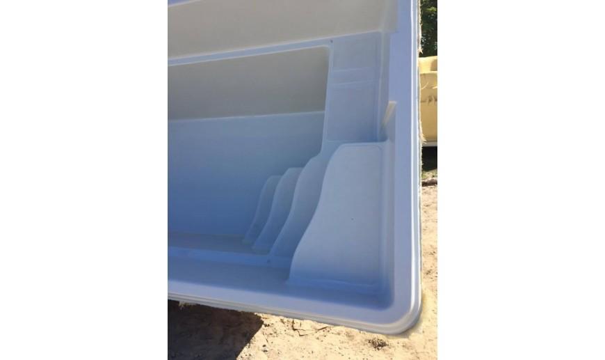 piscine moins de 10m2 4m10x2m40x1m35 l maison bleue. Black Bedroom Furniture Sets. Home Design Ideas